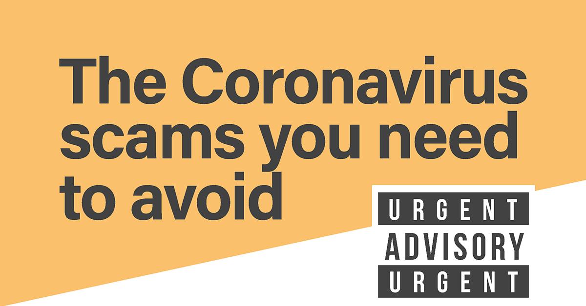 Your Urgent Coronavirus Advisory